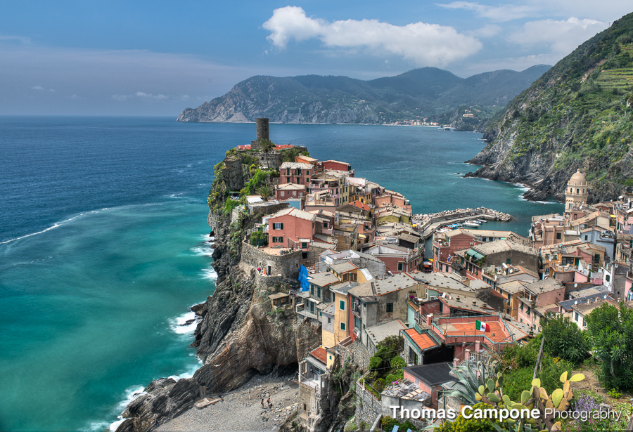 Vernazza looking North from the hiking trail.