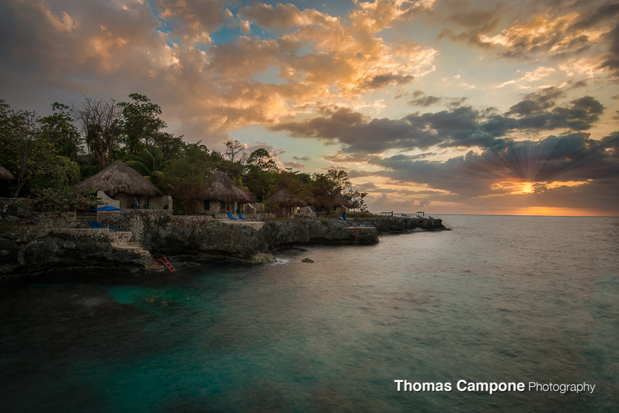 Rockhouse - Jamaica - Views of the villas during sunset.