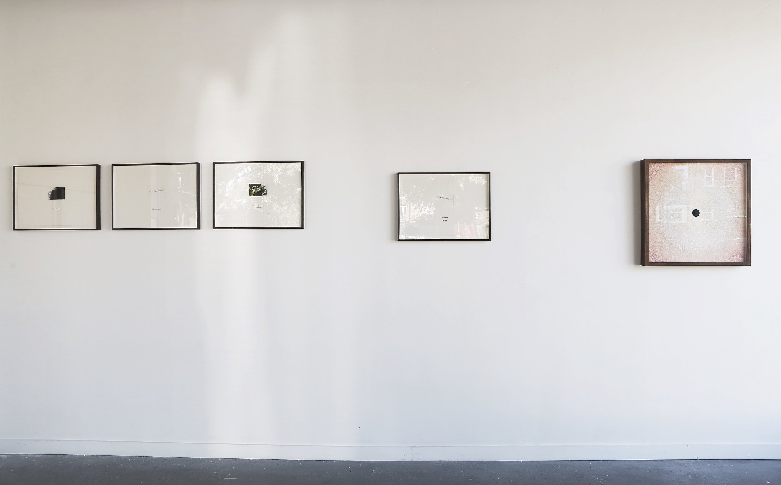 Installation view of  Umbra , solo exhibition at AMP Gallery, 2018