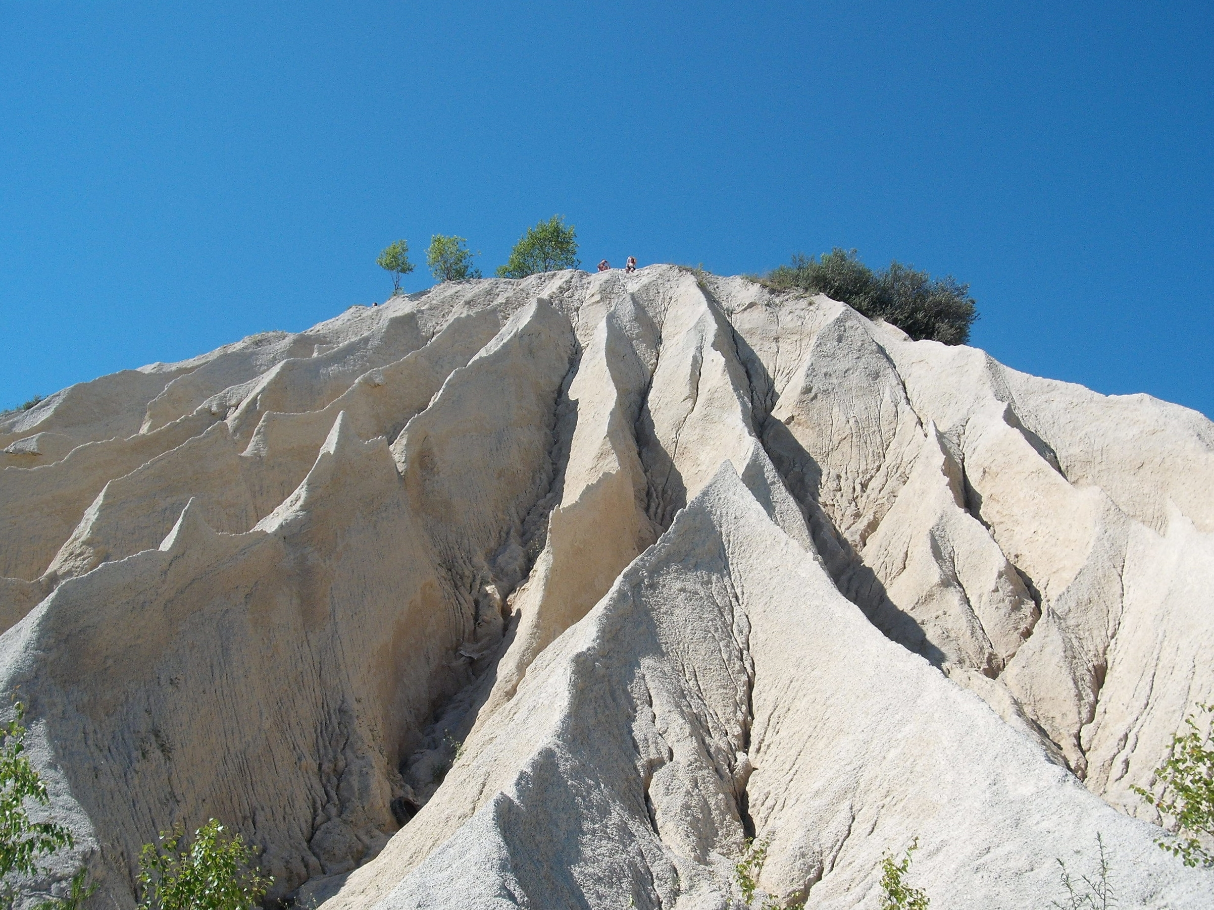 A cliff of limestone