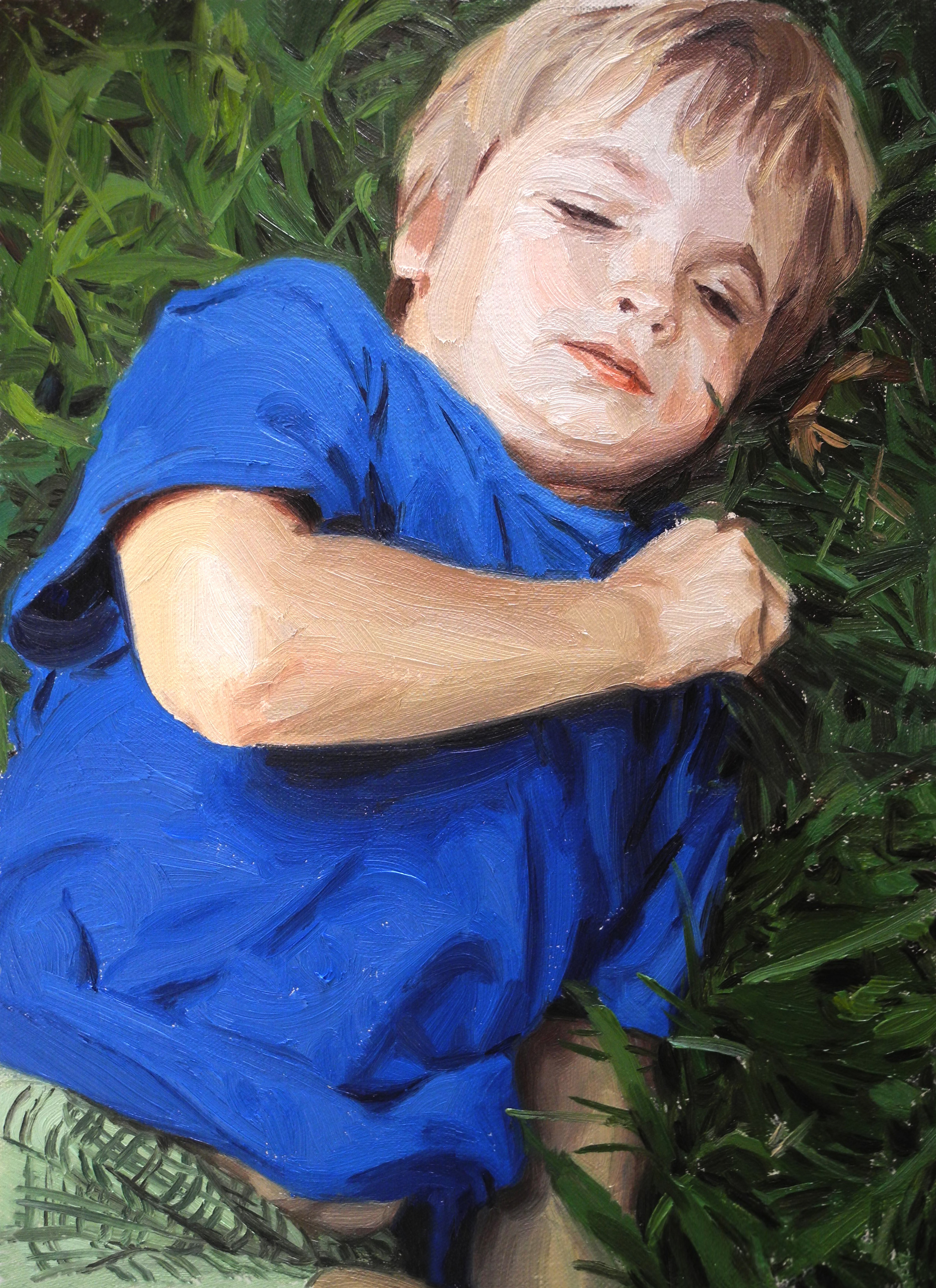 BOY ON GRASS