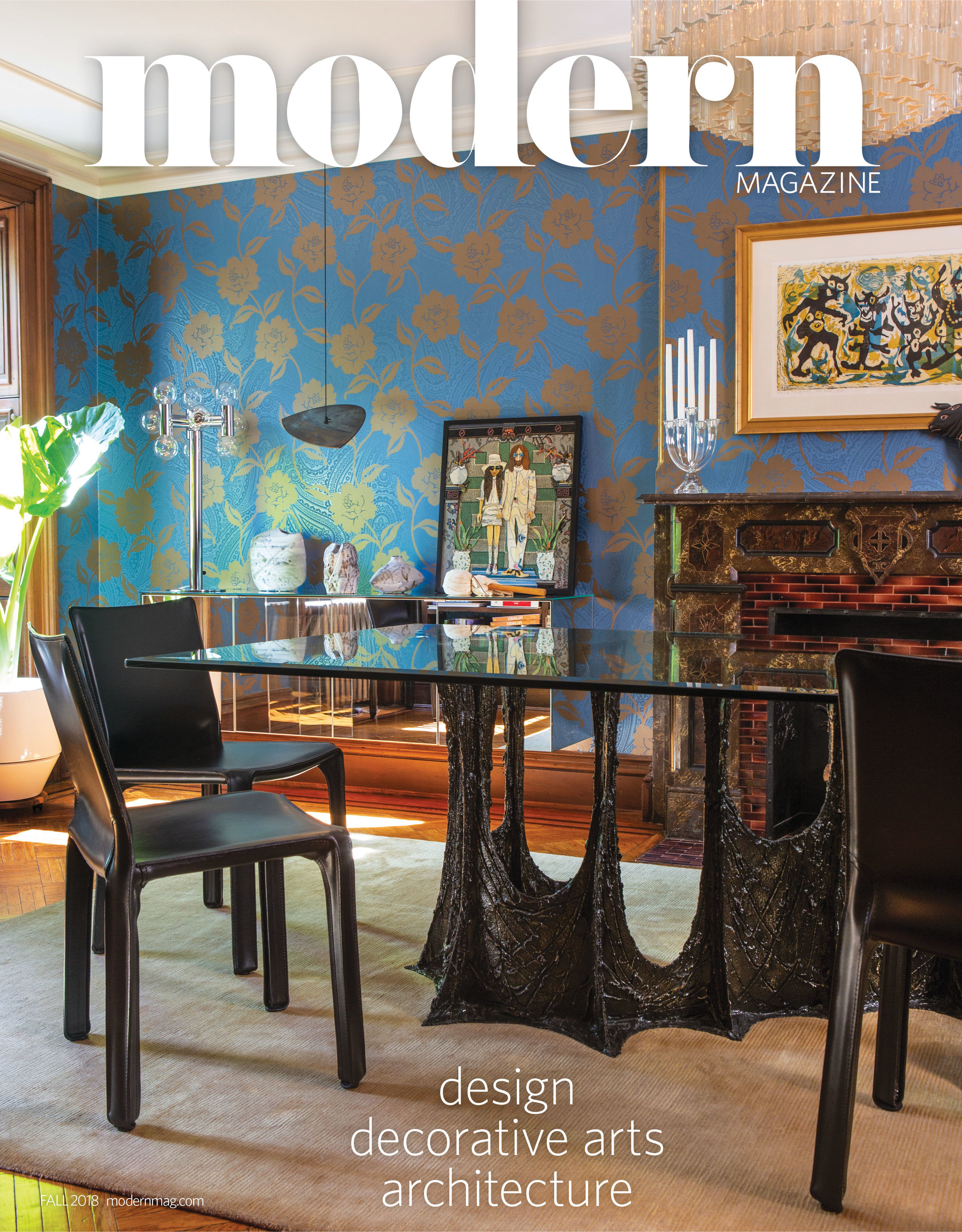 Barry Rice's townhouse featured on the cover of Modern Magazine's fall 2018 issue.