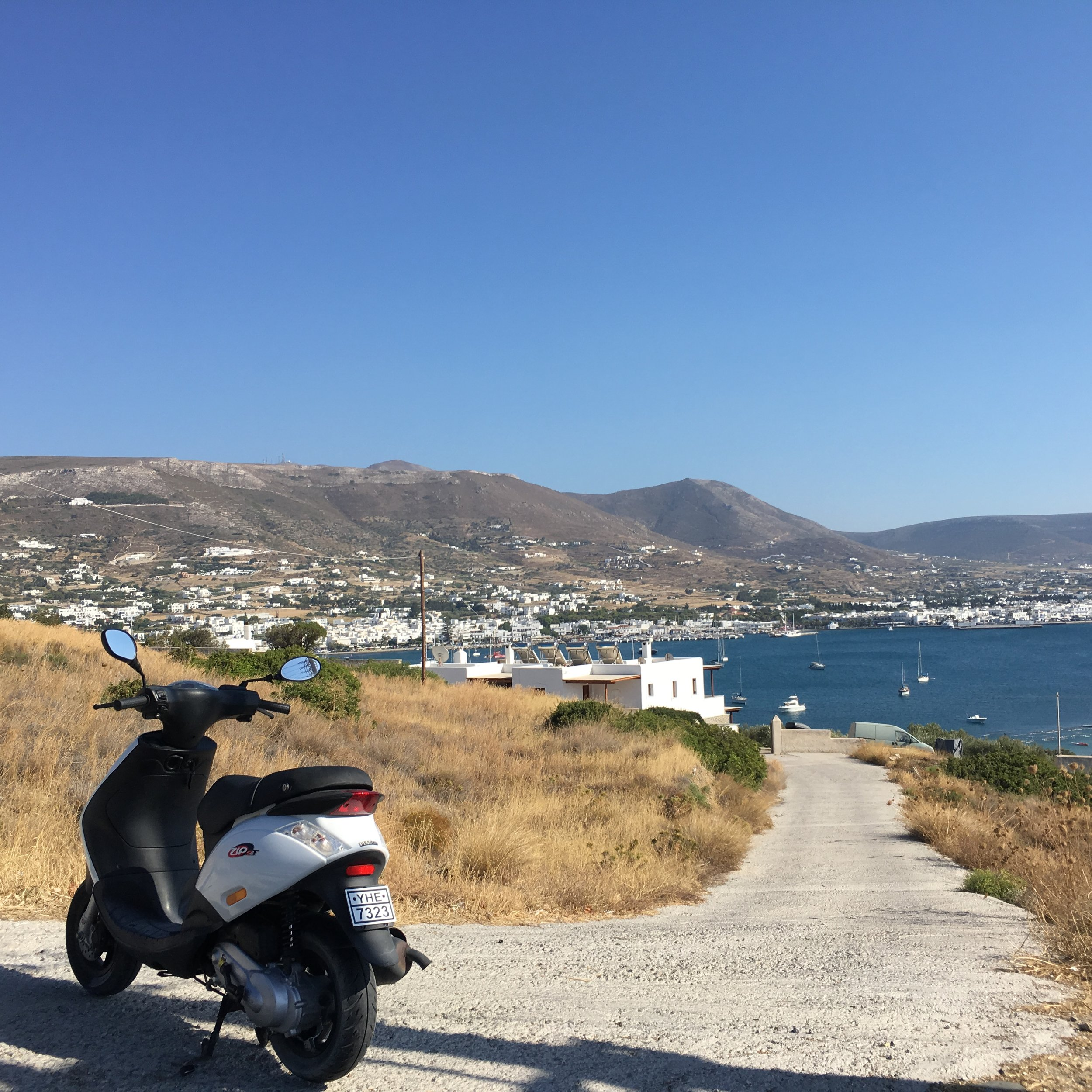 Rent some wheels - Getting around Paros is next to impossible and insanely expensive (I'm pretty sure there are maybe 10 taxis on the island, and each one rakes in thousands a day during peak season). Until Uber arrives in Paros, do yourself a favor and stay independent by renting a moped, car or ATV to get around. Recommend Paros Bike Rentals