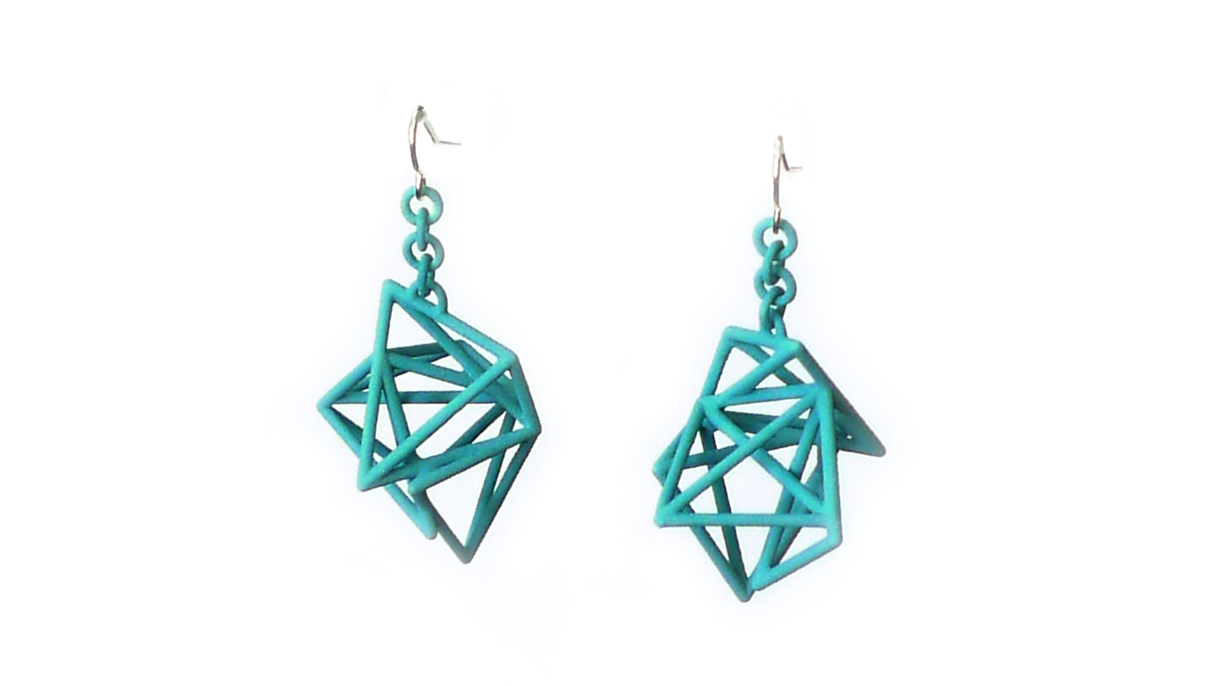 Tetryn Earrings (Drops) Large Wireframe   6000: In Nylon $12  6090: In Steel $66