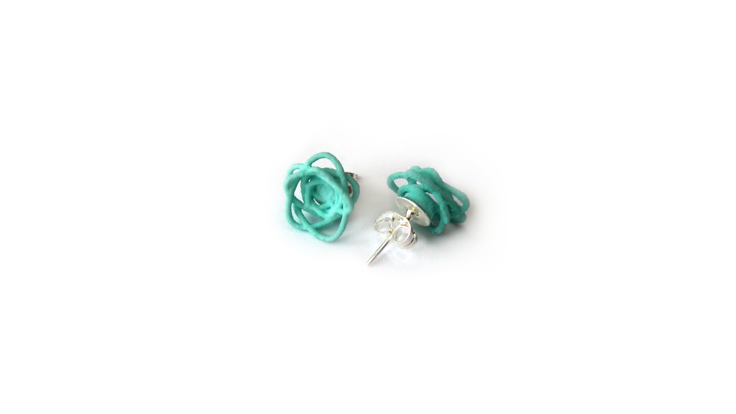 Sprouted Spirals Earrings (Mini Studs)   3450: In Nylon $9  3495: In Steel $44