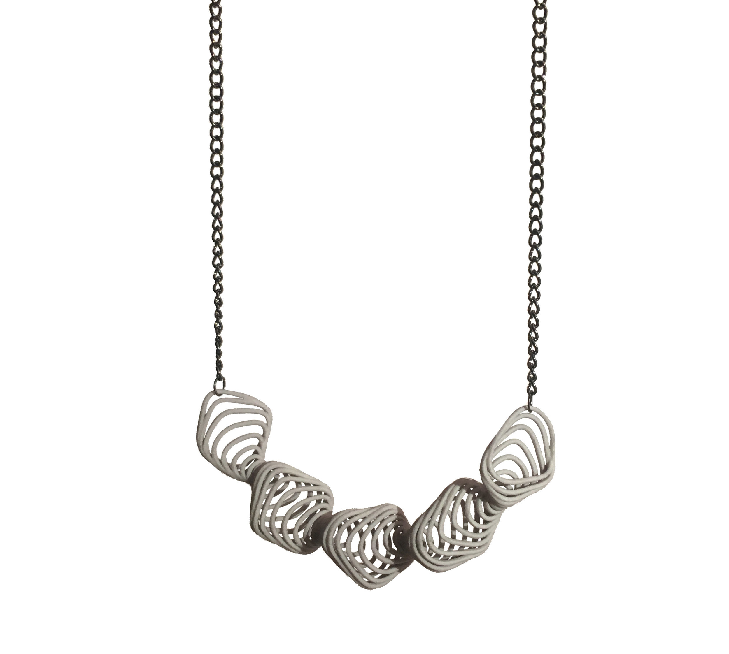 Oscillate Necklace   9100: In Nylon $18  9190: In Steel $80