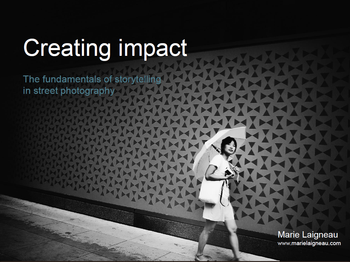 free eBook - Understanding storytelling in street photography to create deeper, more meaningful images that convey strong emotions.