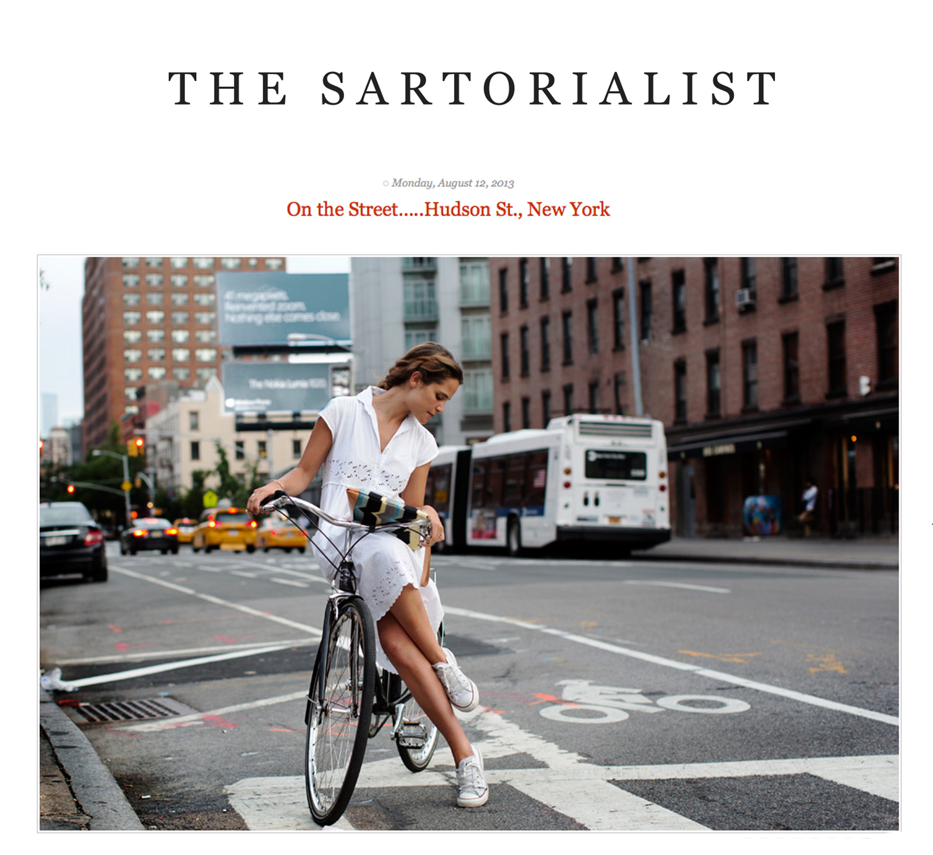 This beautiful image by The Sartorialist is on the top of the Linus press page.