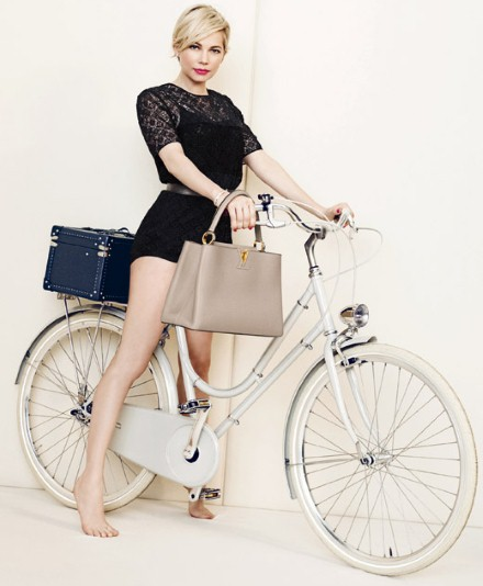 Actress Michelle Williams in the new spring ad series by Louis Vuitton.