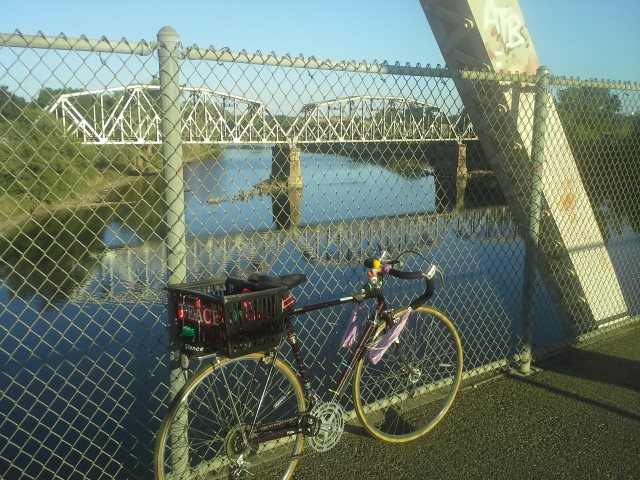 At the end of May I took a ride to my favorite place along the American River on the PEACE bike