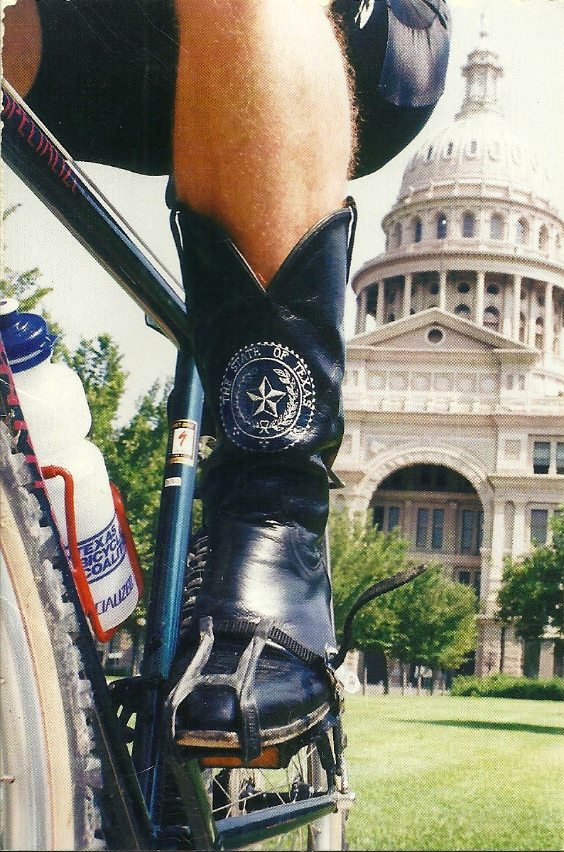 Early promotional image of Bike Texas.