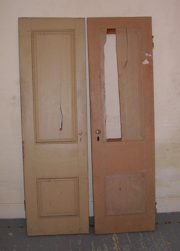 The closet doors from Father McAuley's bedroom closet at the Rectory in New Ireland.