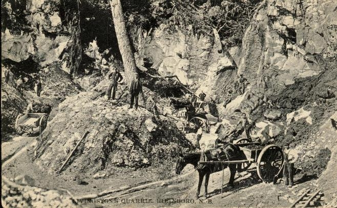 Jones Quarry Crew.   1890   Hillsborough, New Brunswick, Canada