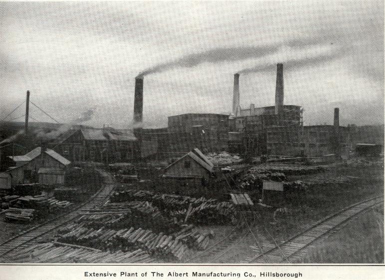 The Albert Manufacturing Company Mill in Hillsborough.   1925   Hillsborough, New Brunswick, Canada