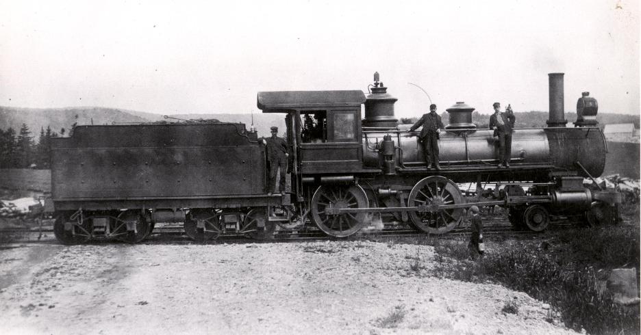 Salisbury and Albert Railway Engine No. 5 1912 Albert, New Brunswick, Canada