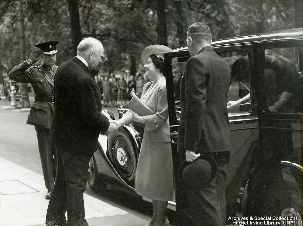 R.B. Bennett greets Queen Elizabeth Circa 1942 England