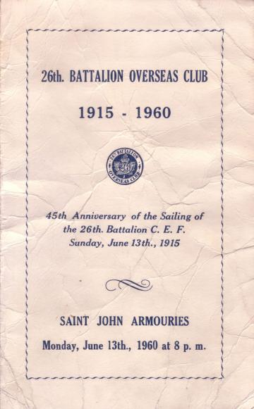 The Program from the 45th Anniversary Dinner in 1960.