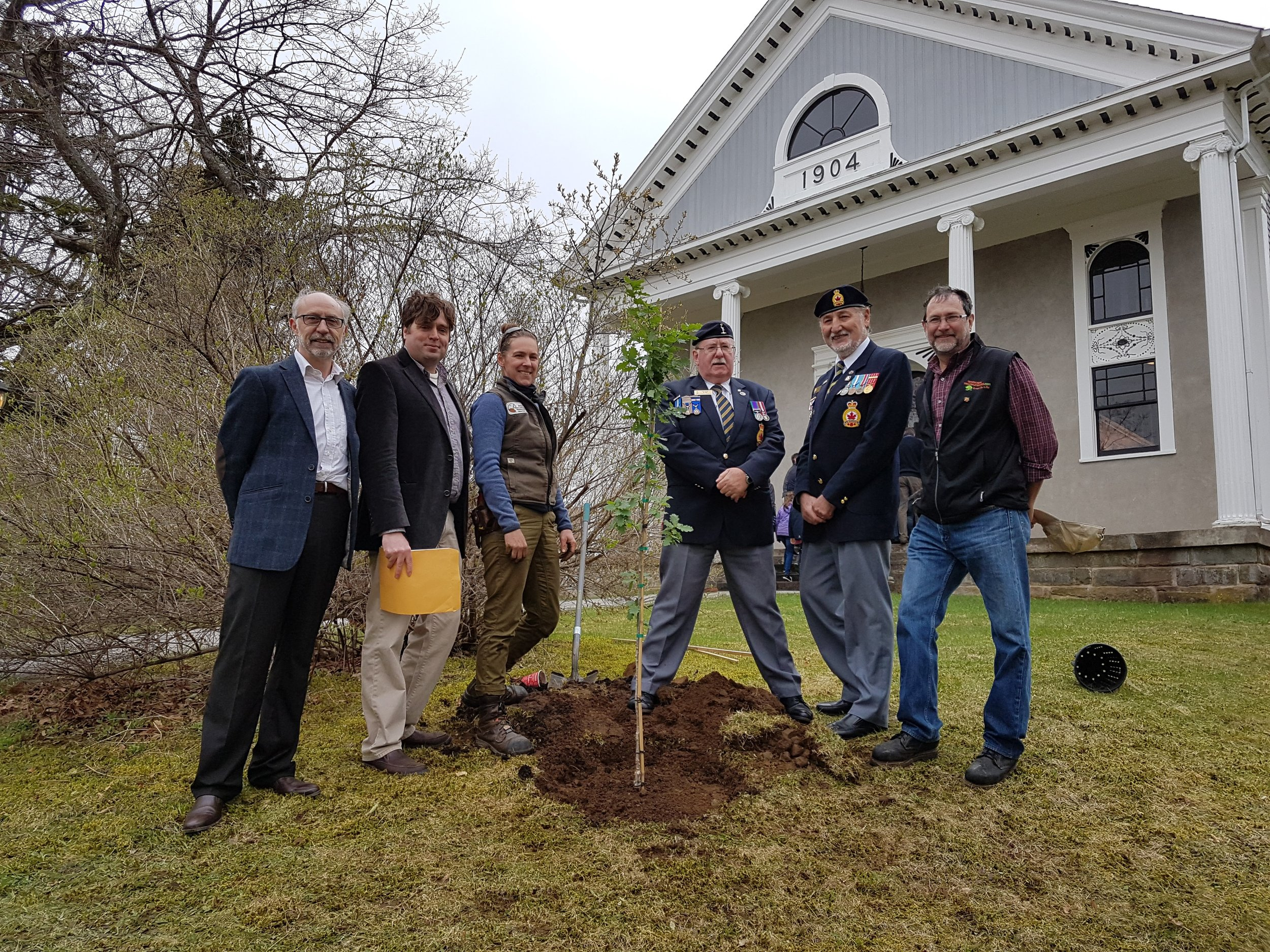 Planting of Vimy Oak at Albert County Museum
