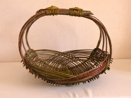 Basket from willow branches
