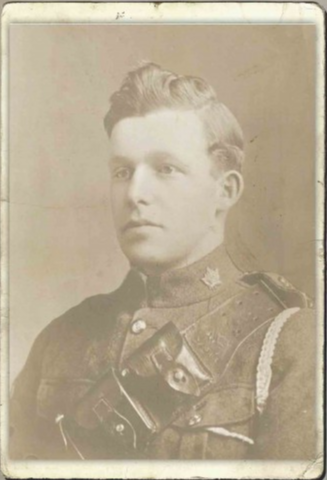 Royden Edmund Steeves, 2704341, was from Hillsborough, Albert County, New Brunswick and was born January 18, 1891 at HIllsborough, New Brunswick. He was the son of Mrs. Laura J. Steeves, of Hillsborough, N.B. He was drafted in 1918 to the Canadian Army Medical Corps Moncton on July 20, 1918. He was listed as Died in Hospital due to pneumonia on October 21, 1918. He is buried at HILLSBOROUGH (GREY'S ISLAND) CEMETERY ; New Brunswick, Canada.