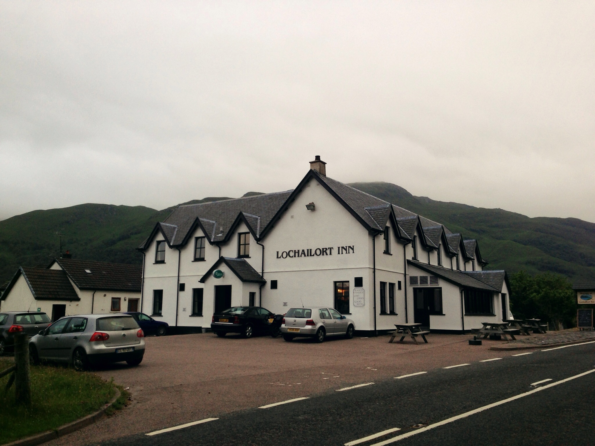 Lochailort Inn has excellent haggis and venison burgers!