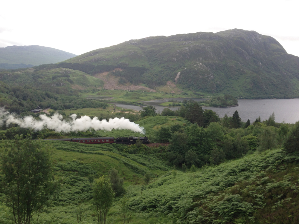 Glenfinnan viaduct - where the old steam train in the Harry Potter films passes by