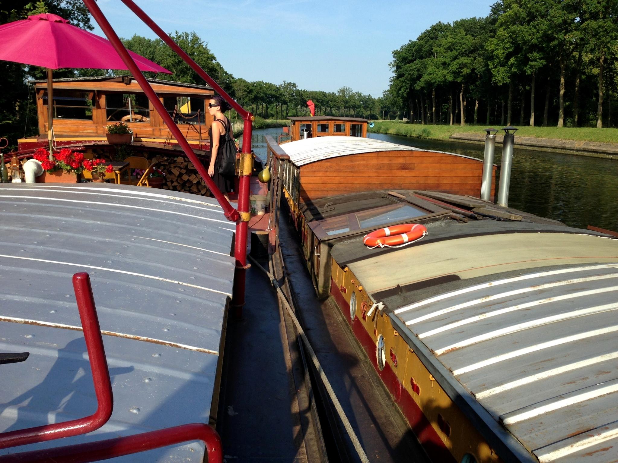 We stayed on a houseboat inBruges, Belgium!