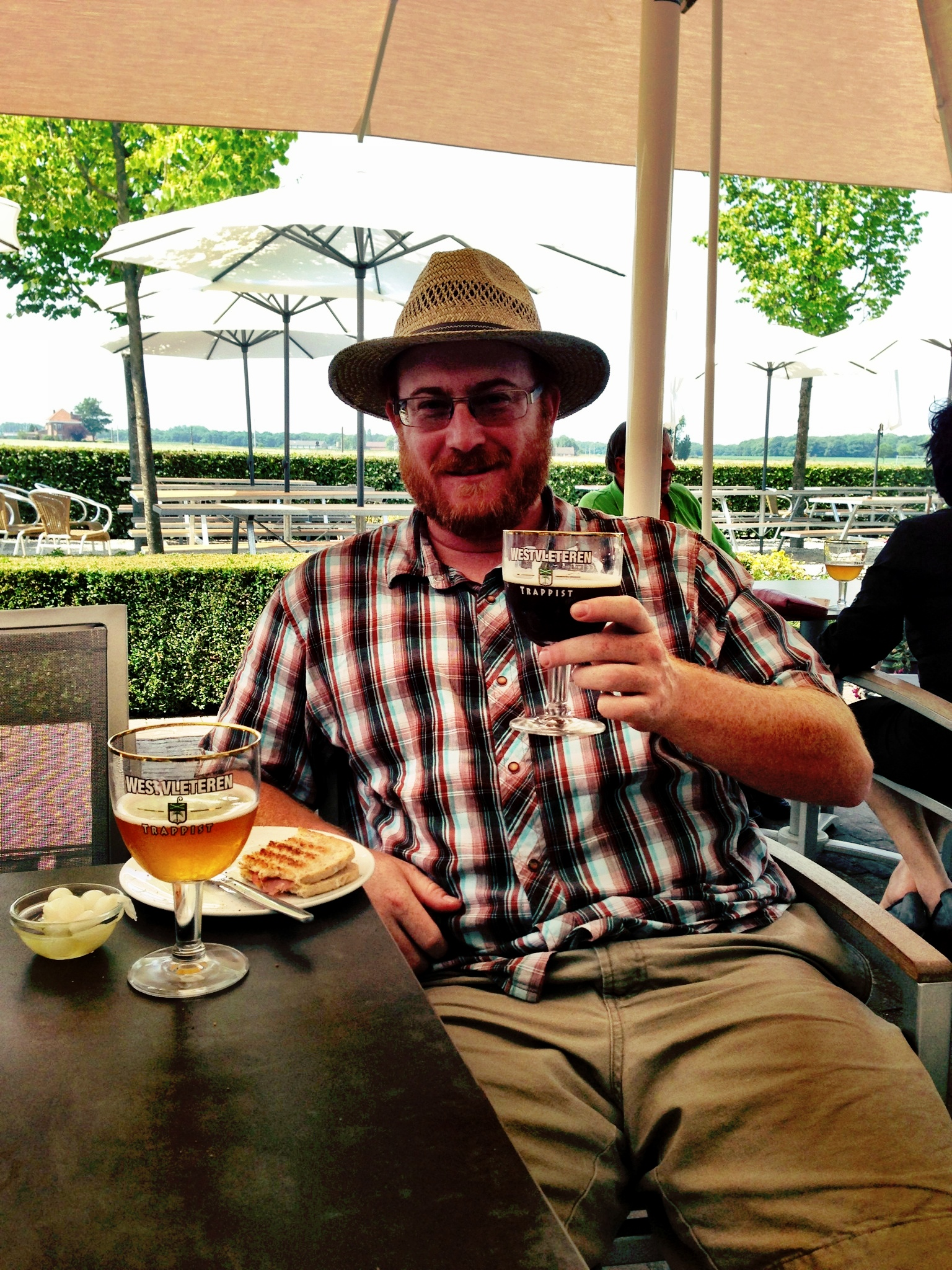 Chillin' at  Westvleteren Brewery