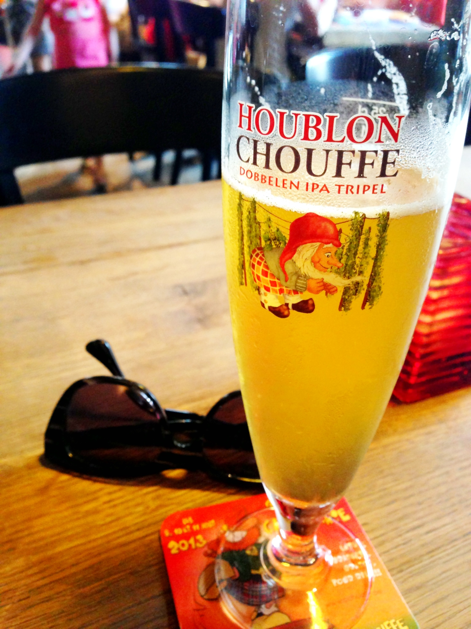 Enjoying an Houblon Chouffe
