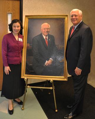 Gerald Lipkin's Portrait Unveiling