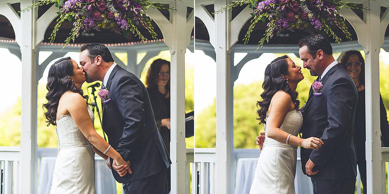 First Kiss Wedding NJ