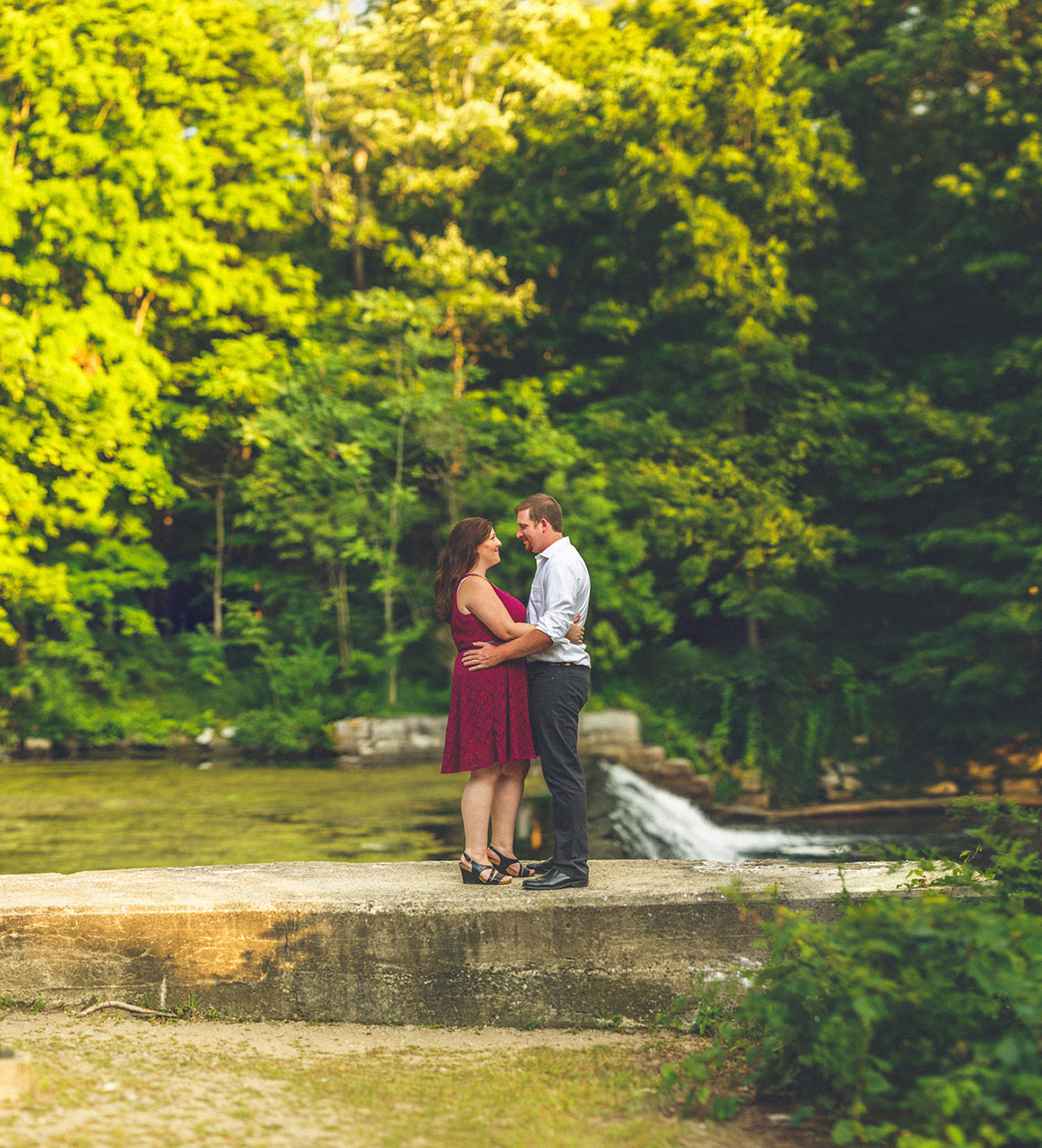 Waterloo Village Engagement Photos