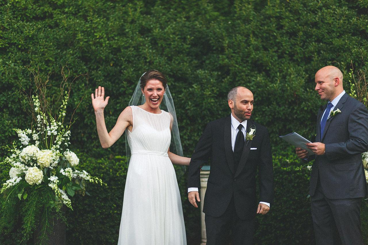 Excited Bride Ceremony