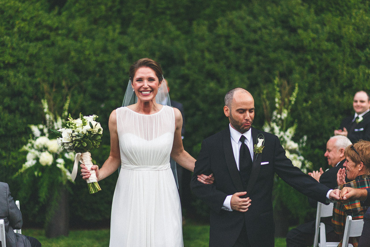 Bride Smiles/Groom Fist Bumps