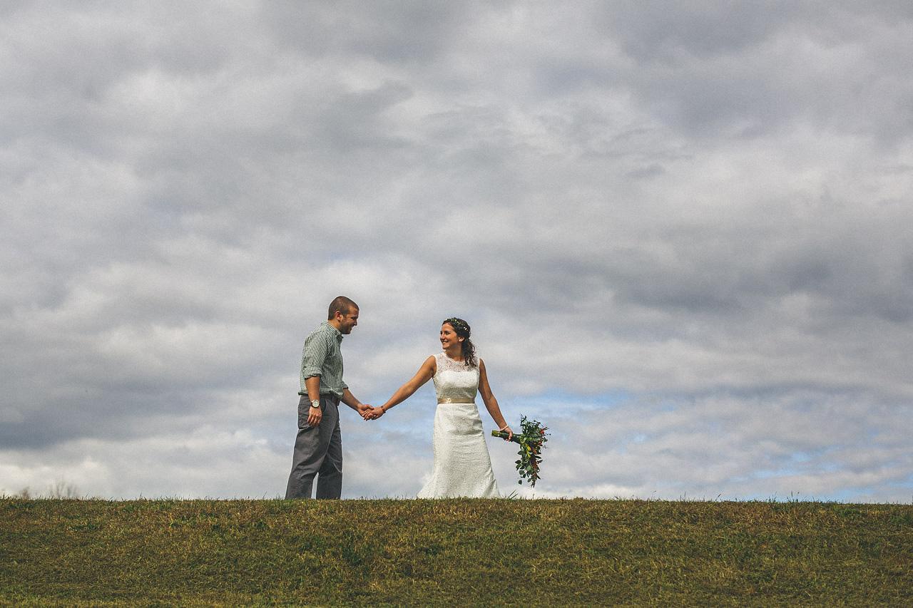 Groom and Bride Walking