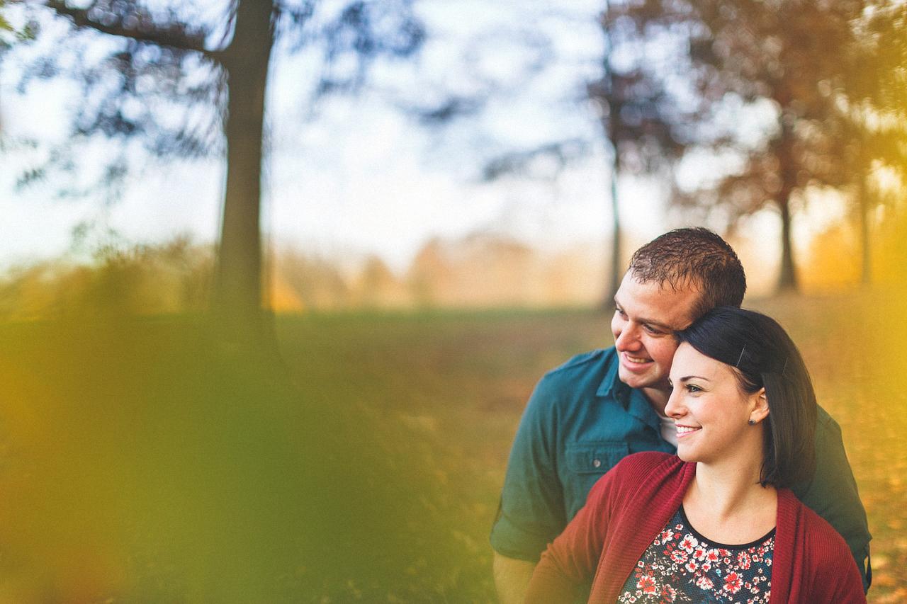 Smiling Engaged Couple
