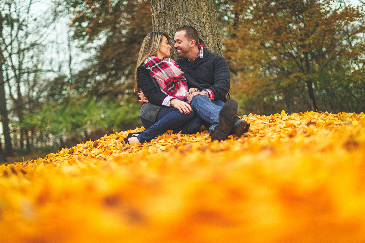 Autumn Engagement Photo New Jersey