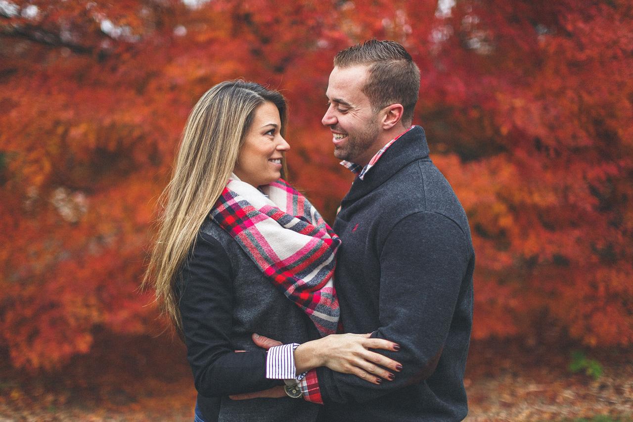 Autumn Engagement Portrait