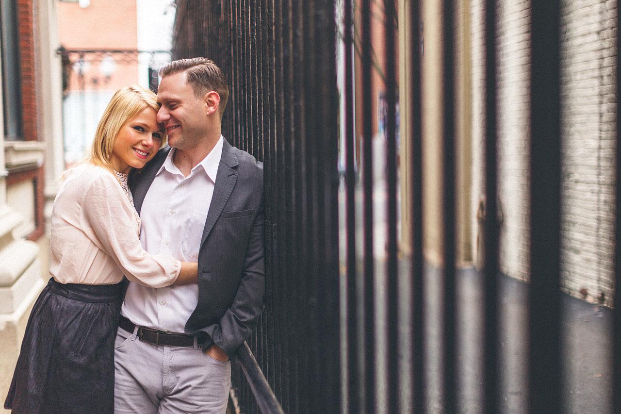 Cuddle Engagement Photo