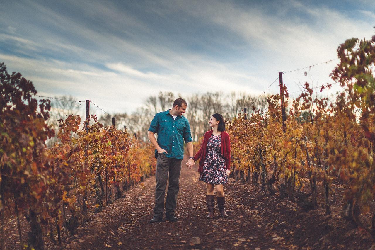 Vineyard Engagement Photography