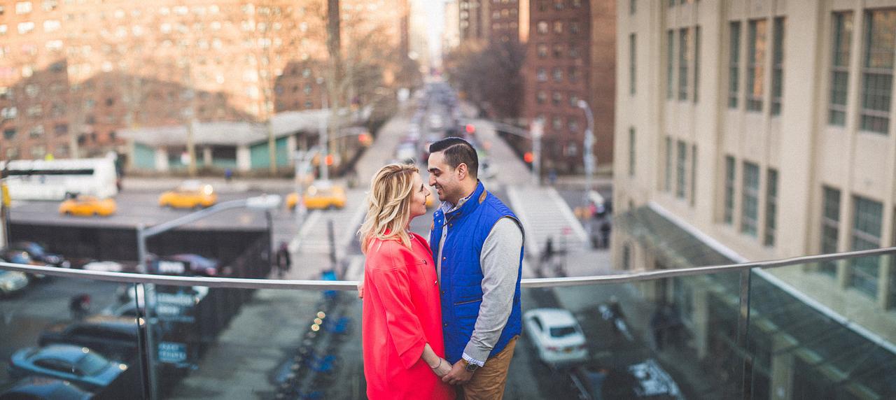 NYC Engagement Portrait