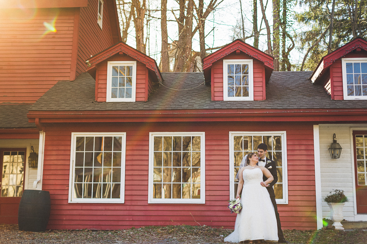 Inn at Millrace Pond Wedding Portraits