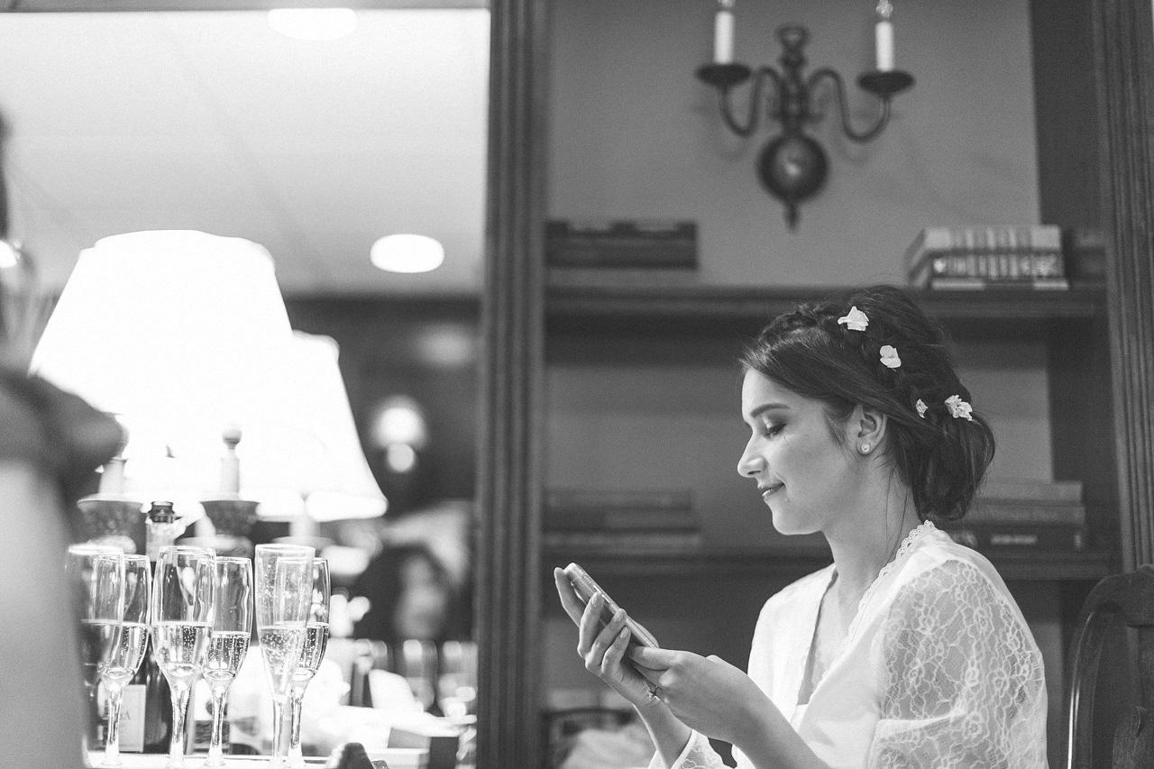 Bride waits before ceremony