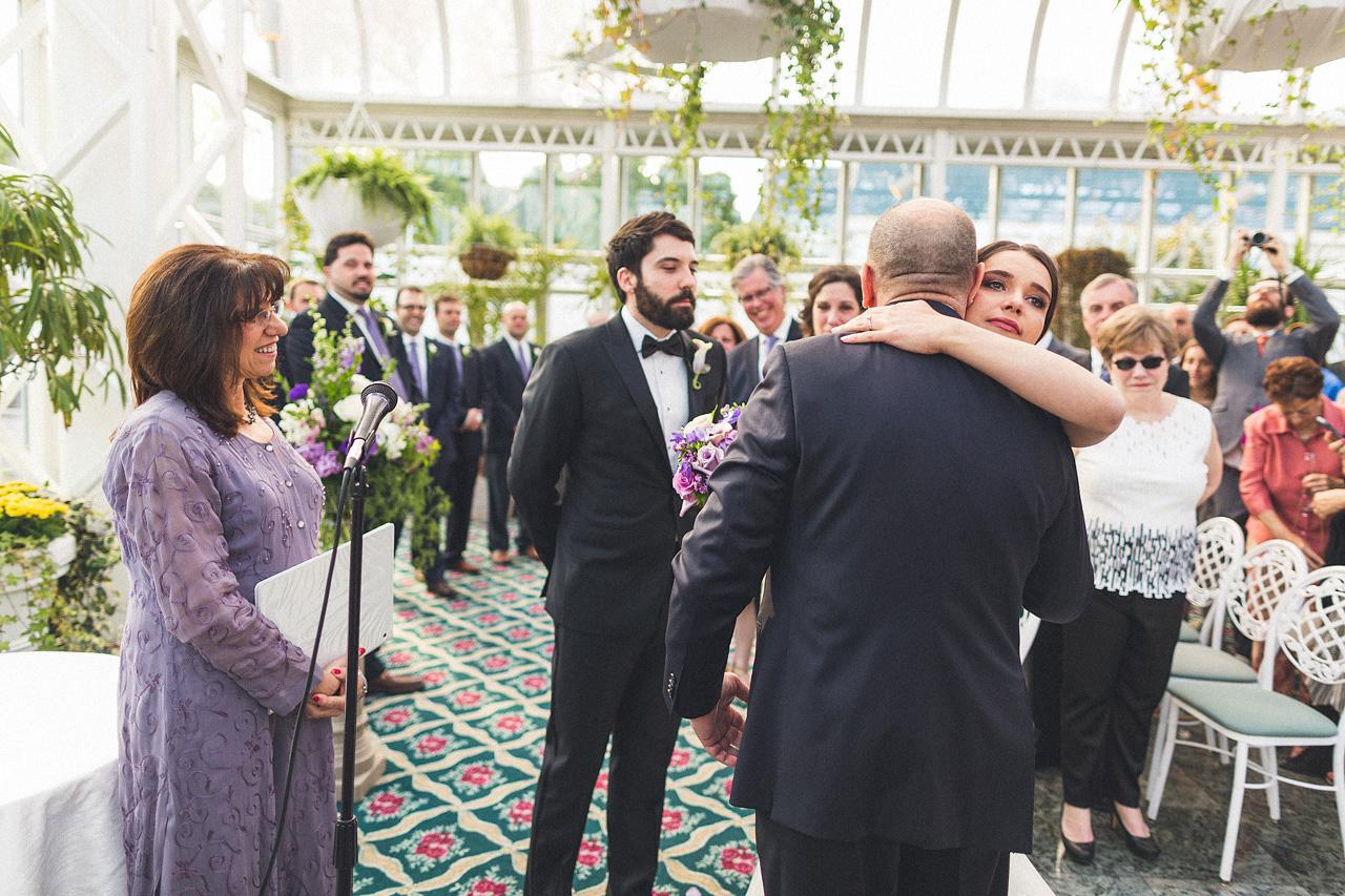 Bride Hugs Father