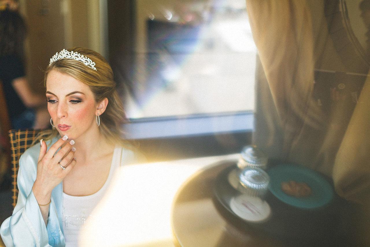 Bride ponders makeup