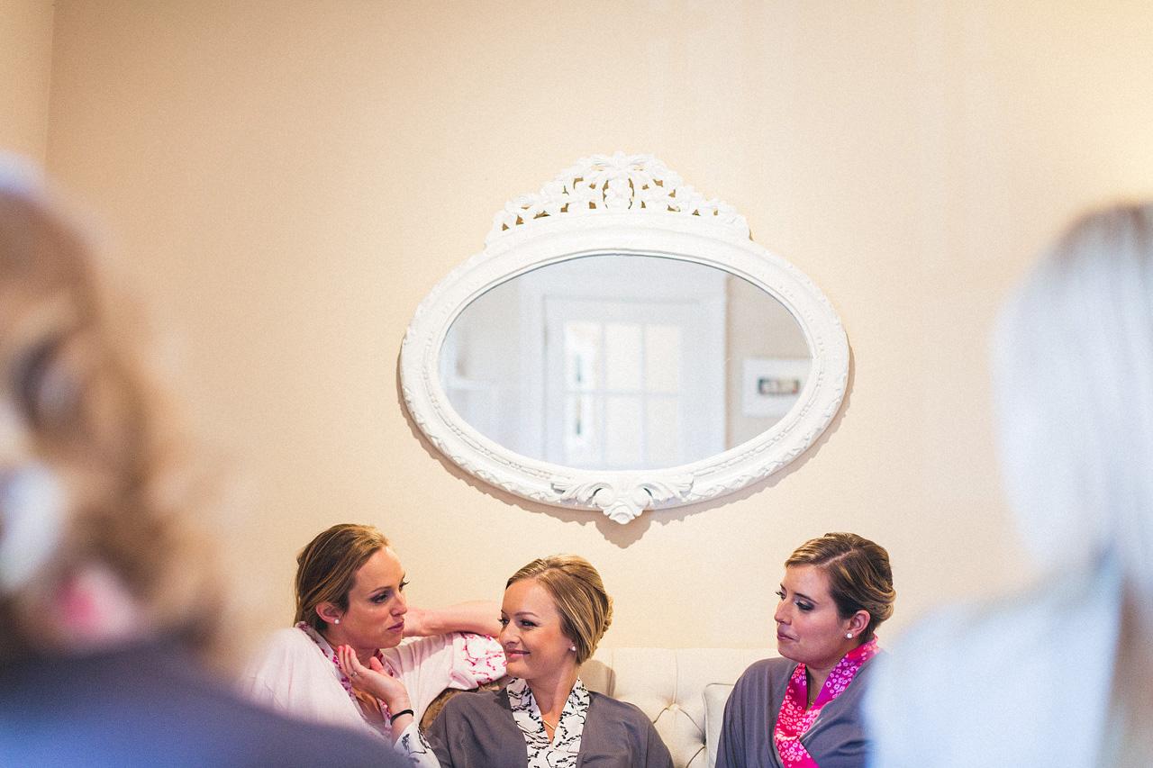 Bridesmaids Chatting