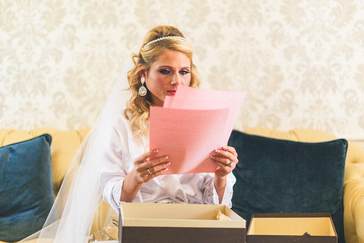 Bride Reads Groom's Feelings