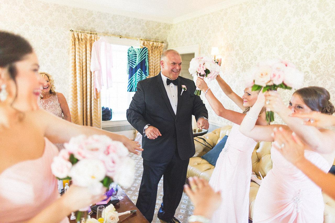 Dad Dances with Bridal Party