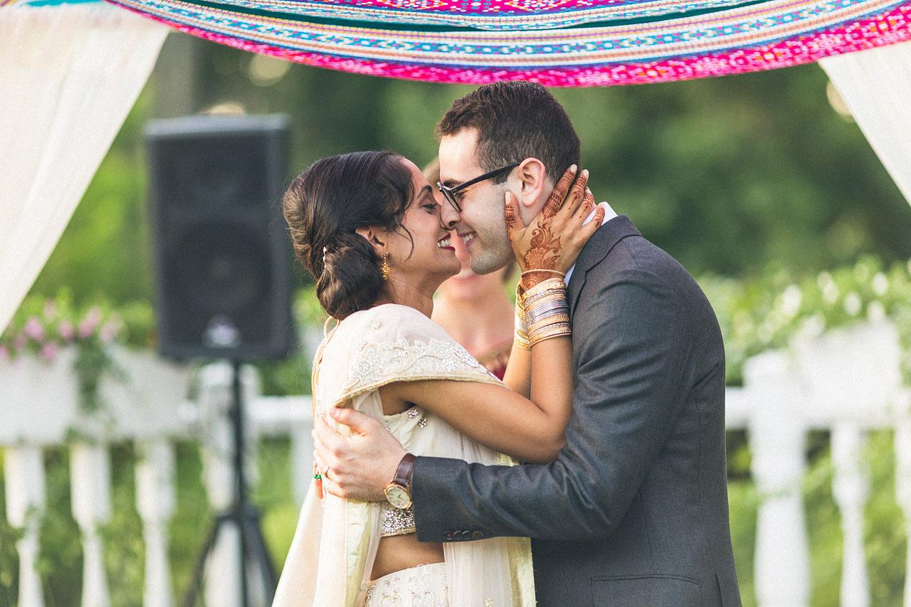 Cute Wedding Kiss