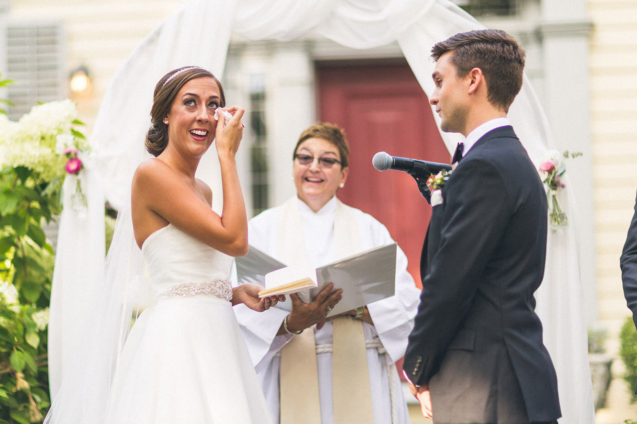 Bride tearful vows